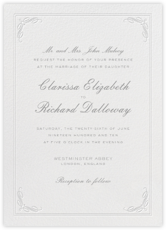 Regency (Tall) - Gray - Paperless Post - Wedding Invitations