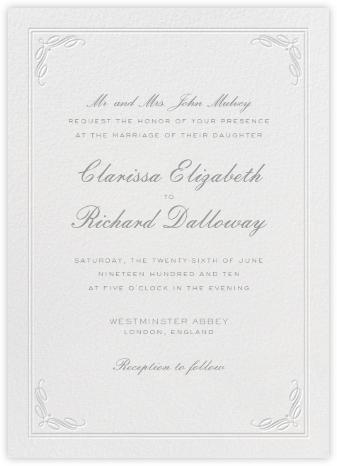 Regency (Tall) - Gray - Paperless Post - Online Wedding Invitations