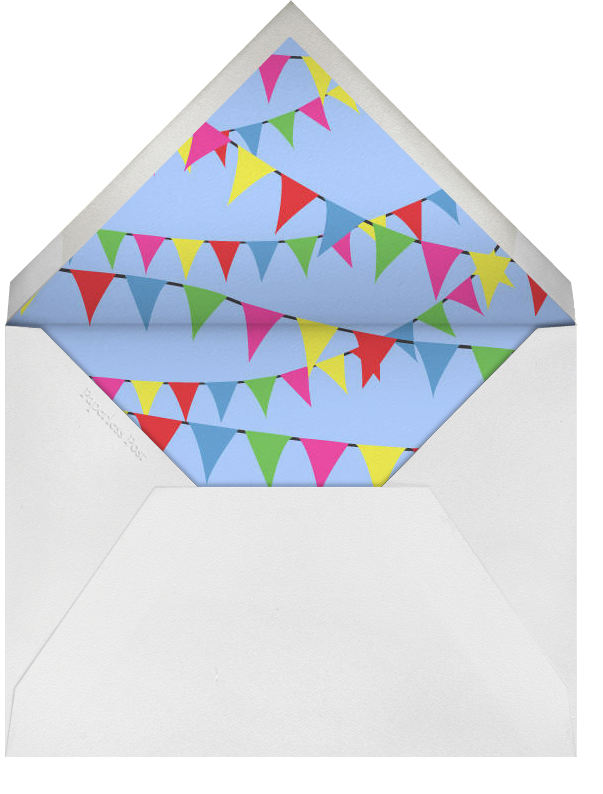 Triangle Flags Blues - Paperless Post - Kids' birthday - envelope back