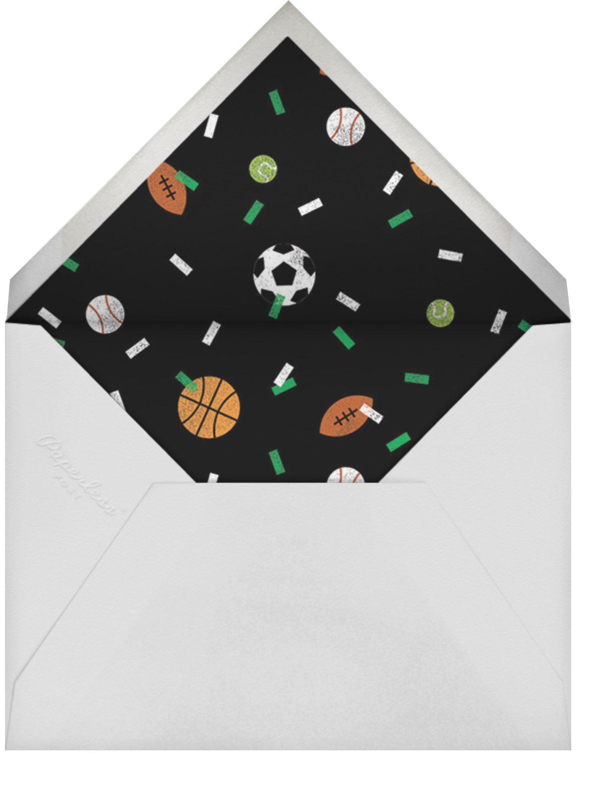 Balls and Bats - Cream - Paperless Post - Kids' birthday - envelope back