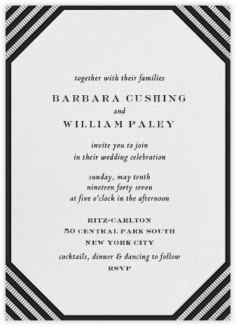 Claridge (Tall) - Black - Paperless Post - Wedding invitations