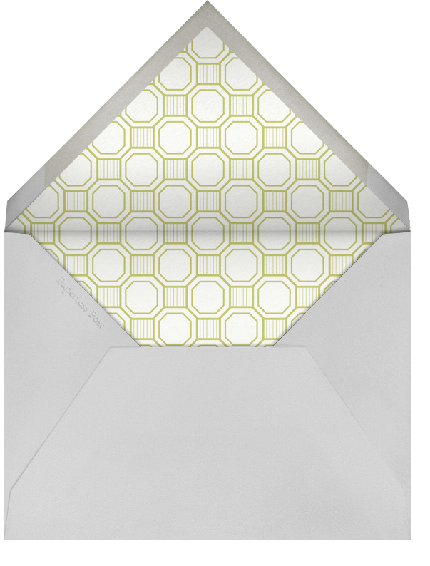 Claridge (Tall) - Chartreuse - Paperless Post - All - envelope back