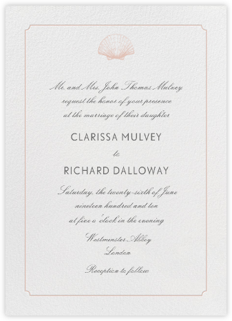 Indented Rounded Corners Tall - Antique Pink - Paperless Post - Wedding Invitations