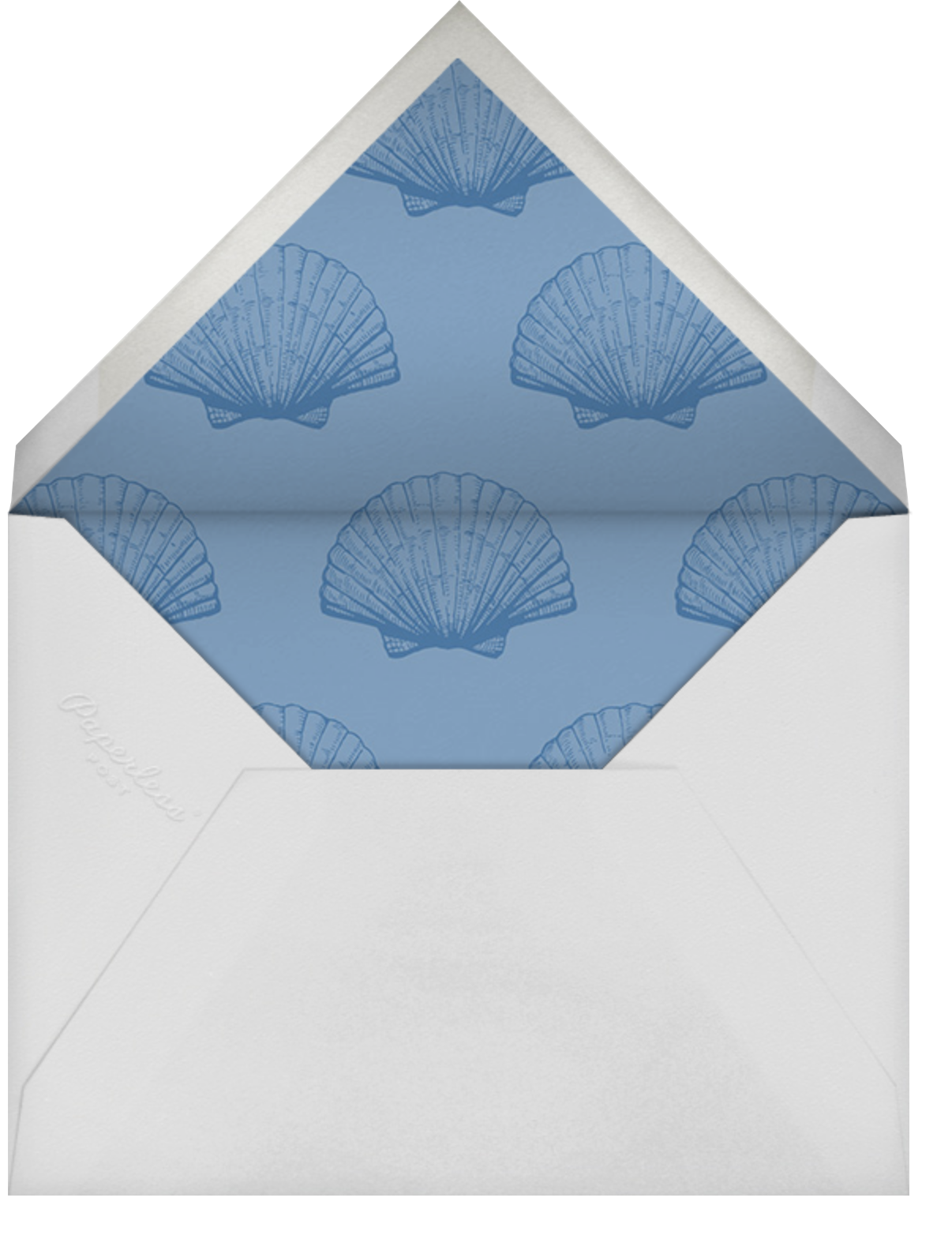 Indented Rounded Corners Tall - Dark Blue - Paperless Post - All - envelope back