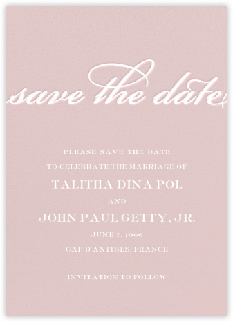Simple Script (Save the Date) - Antique Pink - Paperless Post - Save the dates