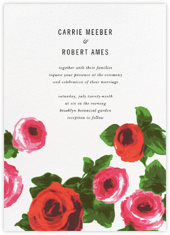 Rose Bed (Invitation) - kate spade new york - Online Wedding Invitations