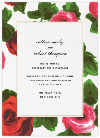 Rose Bed Frame - kate spade new york - Wedding Invitations