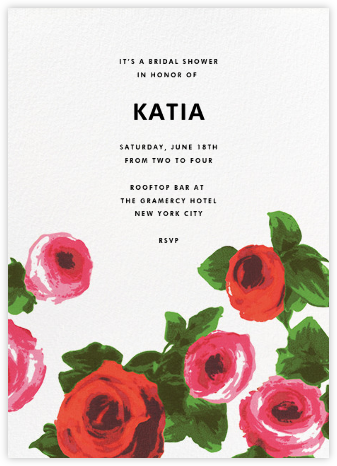 Rose Bed - kate spade new york - Bridal shower invitations