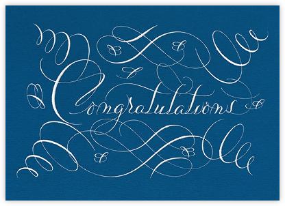 Congratulations Flourish - Indigo - Bernard Maisner - Congratulations cards