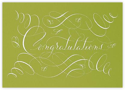 Congratulations Flourish - Pistachio - Bernard Maisner