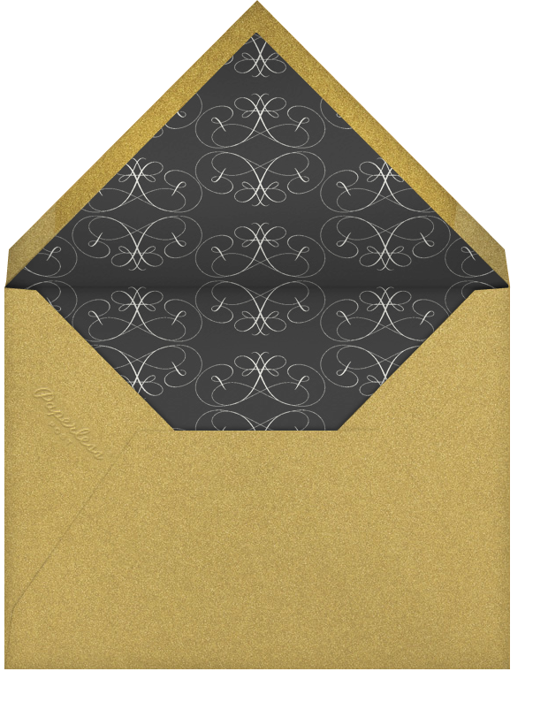 Tying The Knot Flourish - Black - Bernard Maisner - Bernard Maisner Studio - envelope back