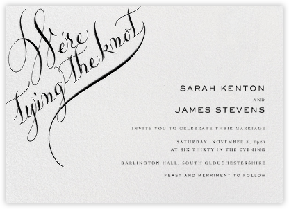 Tying The Knot Flourish - Black - Bernard Maisner - Bernard Maisner Invitations