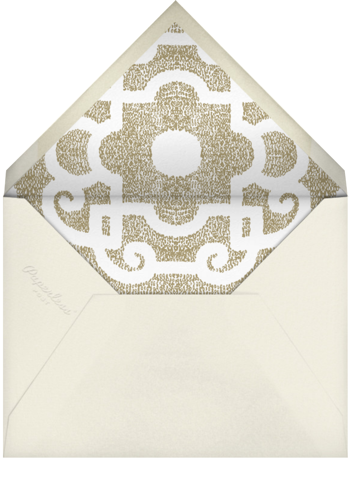 Loire Tall - Sepia - Paperless Post - All - envelope back