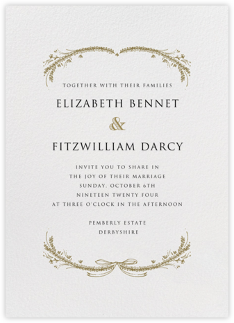 Loire Tall - Sepia - Paperless Post - Wedding Invitations