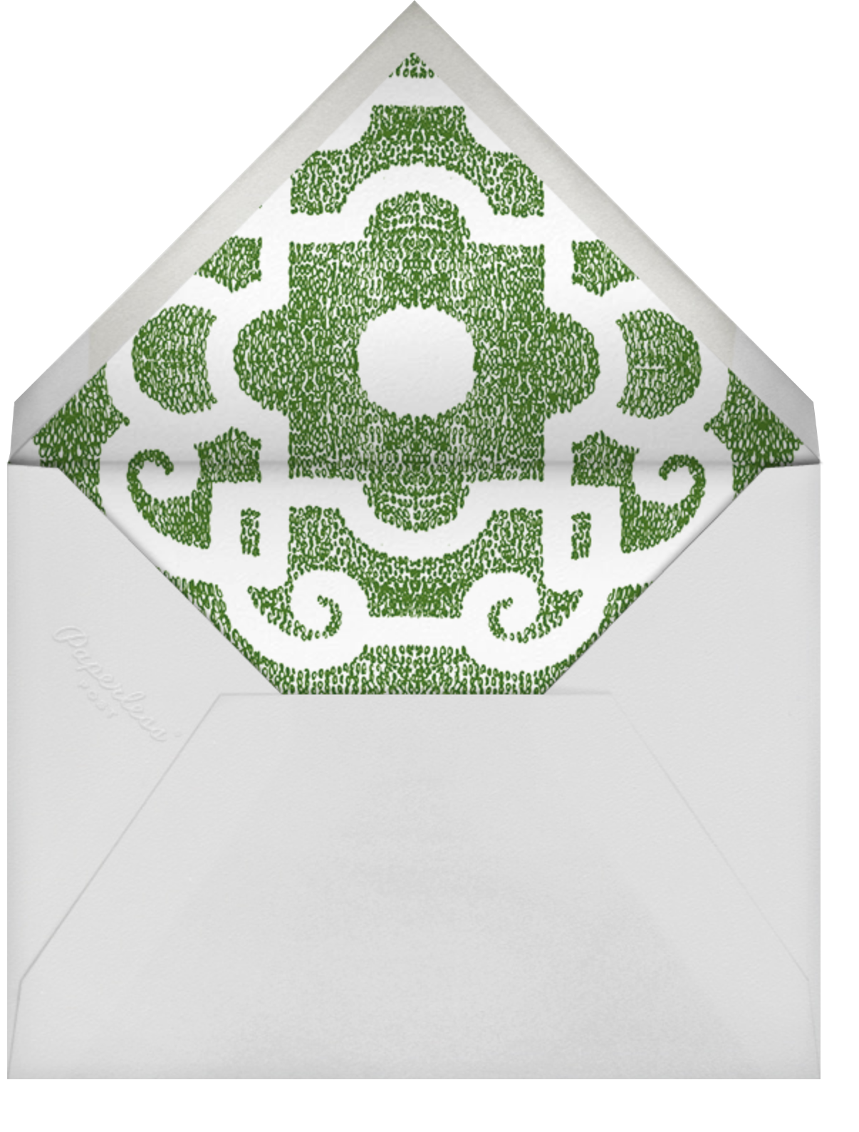 Loire Tall - Green - Paperless Post - All - envelope back