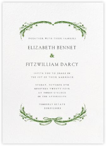 Location Map Wedding Invitation Coloured Ground