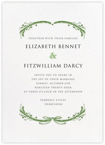 Loire Tall - Green - Paperless Post - Wedding Invitations