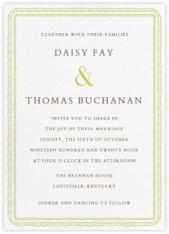 Emma Tall - Pistachio - Paperless Post - Wedding Invitations