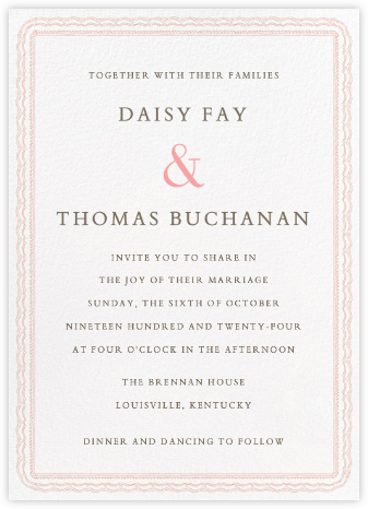 Emma Tall - Antique Pink - Paperless Post - Wedding Invitations
