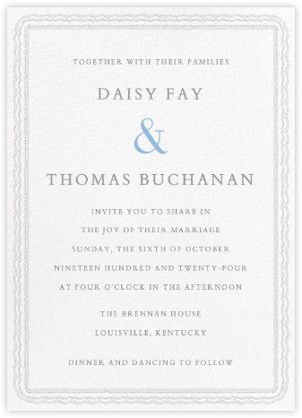Emma Tall - Winter Gray - Paperless Post - Wedding invitations
