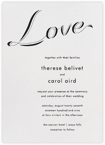 Tying The Knot Tall - Black - Paperless Post - Wedding Invitations