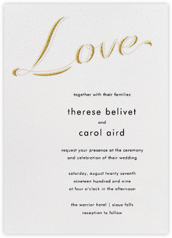 Tying The Knot Tall - Gold - Paperless Post - Wedding Invitations