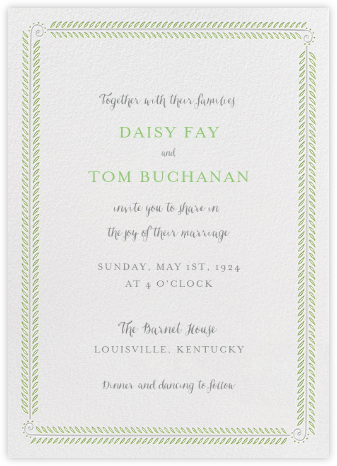 Filigree Vine Tall - Ivory - Paperless Post - Wedding Invitations