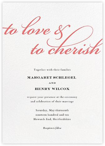 Simple Script (Invitation) - Coral - Paperless Post - Wedding Invitations