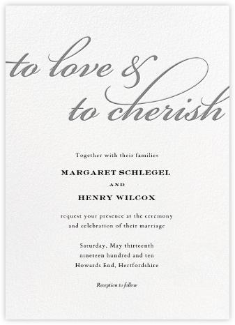 Simple Script (Invitation) - Gray - Paperless Post - Romantic wedding invitations