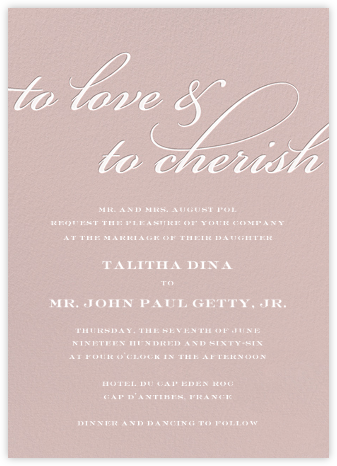 Simple Script (Invitation) - Antique Pink - Paperless Post - Wedding Invitations
