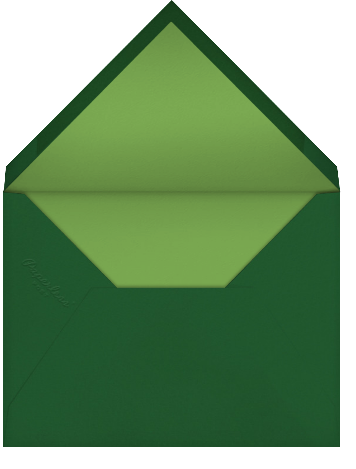 Fern II (Invitation) - Green - Paperless Post - All - envelope back