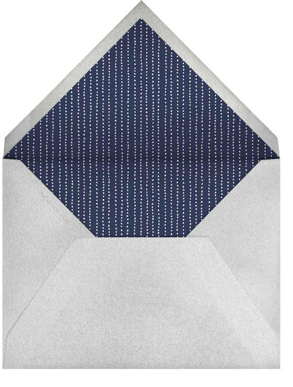 Ivory with Silver and Blue Border - Paperless Post - Envelope
