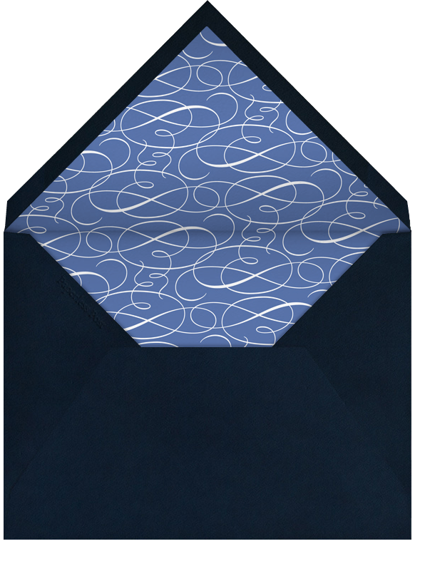 Indented Rounded Corners - Dark Blue (Tall) - Paperless Post - Bar and bat mitzvah - envelope back