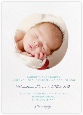 Painted Circle - Paperless Post - Christening Invitations