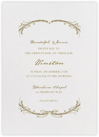 Loire Tall - Sepia - Paperless Post - Baptism invitations