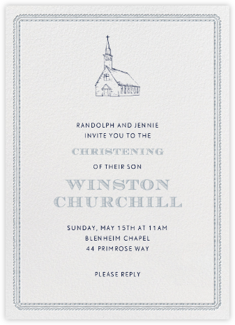 Dashwood Tall - Pacific - Paperless Post - Christening Invitations