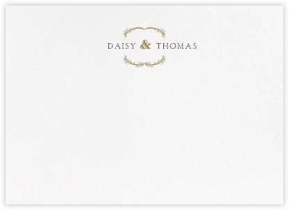 Loire Horizontal - Gold - Paperless Post - Personalized Stationery