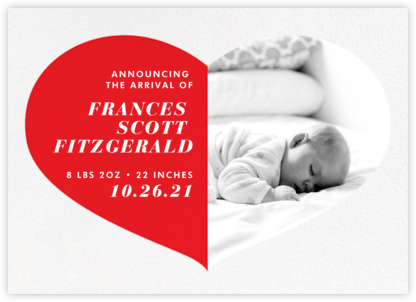 Love Saves The Date - Red - Paperless Post - Birth Announcements