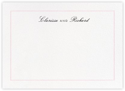 Mignonette Horizontal - Gum - Paperless Post - Personalized Stationery