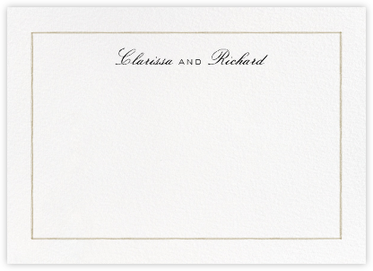 Mignonette Horizontal - Sepia - Paperless Post - Personalized Stationery