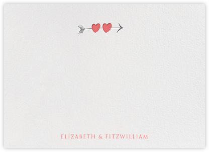 Script Heart Horizontal - Coral - Paperless Post