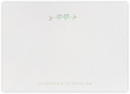Script Heart Horizontal - Mint Sage - Paperless Post -