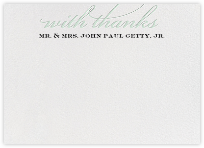 Simple Script (Stationery) - Mint - Paperless Post - Personalized Stationery