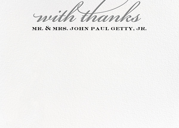 Simple Script (Stationery) - Gray - Paperless Post - Wedding thank you notes