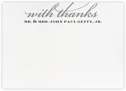 Simple Script (Stationery) - Gray - Paperless Post - Personalized Stationery