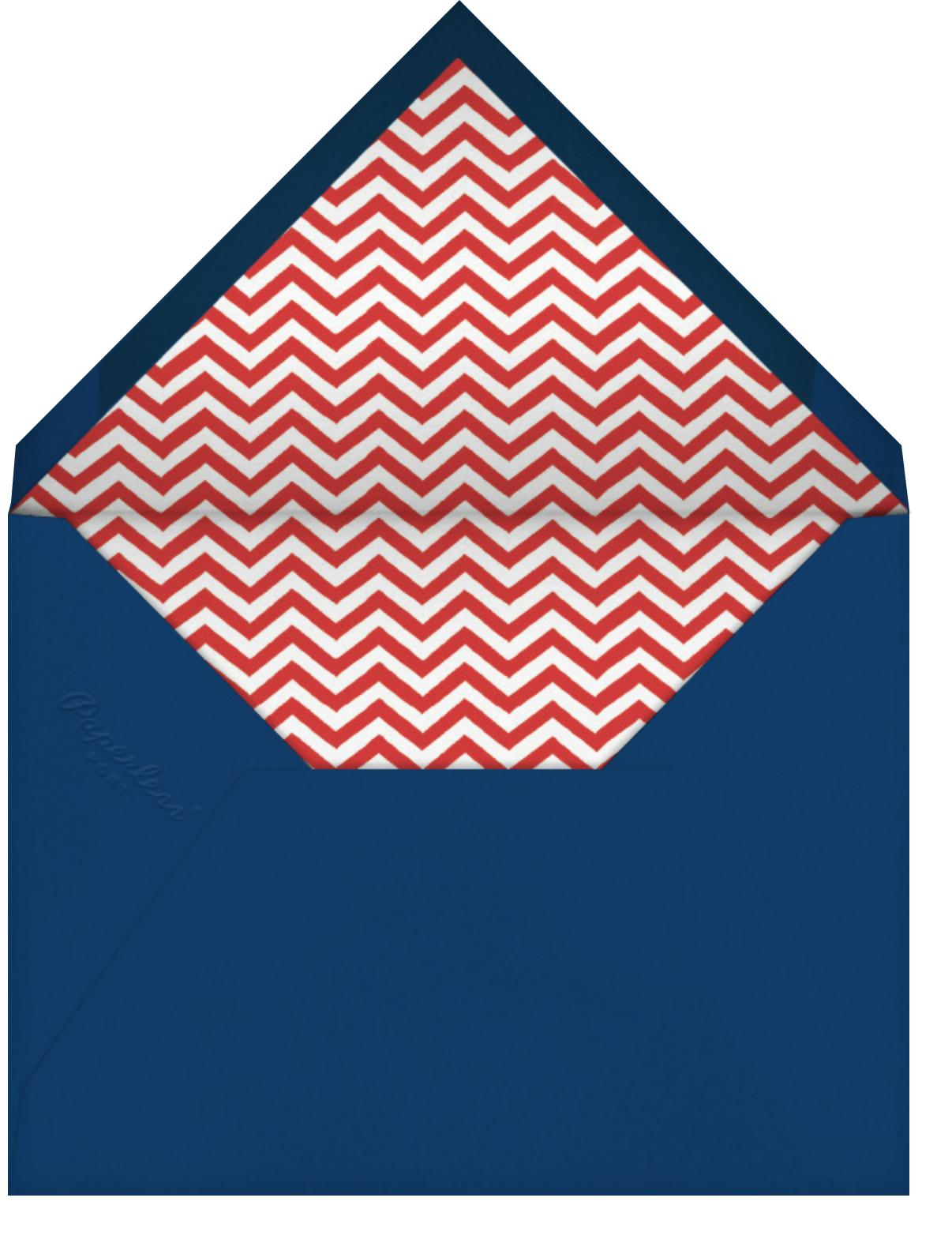 Sailboat Pattern - Linda and Harriett - Beach party - envelope back