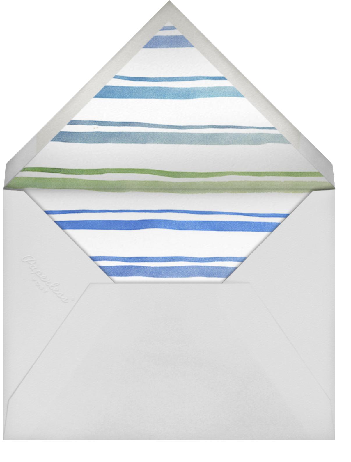 Splish Splash - Light Blue - Linda and Harriett - Pool party - envelope back