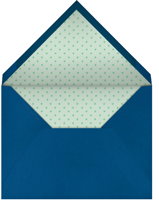 Triangles Splitscreen - Emerald - Paperless Post - 1st birthday - envelope back
