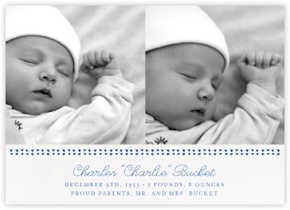 Triangles Splitscreen - Lapis Lazuli - Paperless Post - Birth Announcements