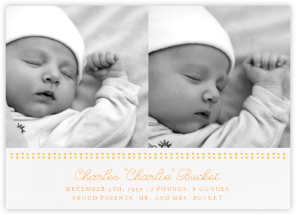 Triangles Splitscreen - Citrus - Paperless Post - Birth Announcements